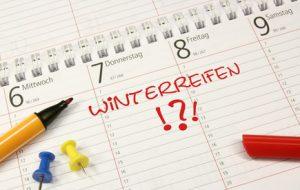 Ab wann auf Winterreifen beim Auto wechseln?