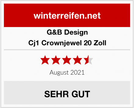 G&B Design Cj1 Crownjewel 20 Zoll Test