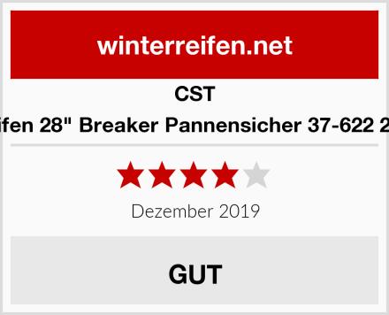 """CST 2 x Fahrradreifen 28"""" Breaker Pannensicher 37-622 28x1 5/8 x1 3/8 Test"""