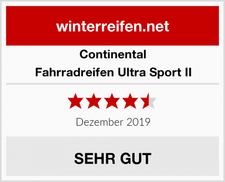 Continental Fahrradreifen Ultra Sport II Test