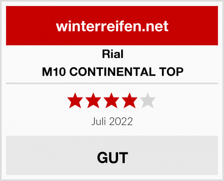 Rial M10 CONTINENTAL TOP Test