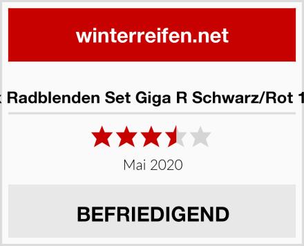 Petex Radblenden Set Giga R Schwarz/Rot 16 Zoll Test