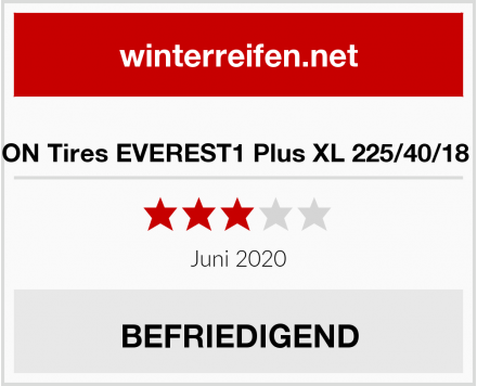SYRON Tires EVEREST1 Plus XL 225/40/18 92 V Test