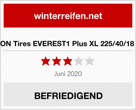 SYRON Tires EVEREST1 Plus XL 225/40/18 92 V Test