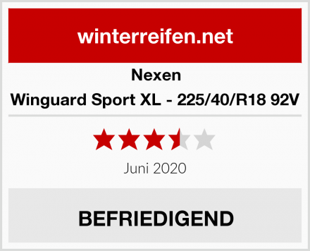 Nexen Winguard Sport XL - 225/40/R18 92V Test