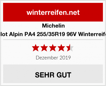 Michelin Pilot Alpin PA4 255/35R19 96V Winterreifen Test