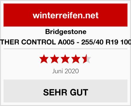Bridgestone WEATHER CONTROL A005 - 255/40 R19 100V XL Test