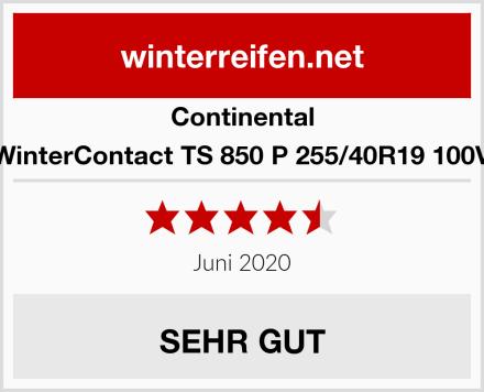 Continental WinterContact TS 850 P 255/40R19 100V Test