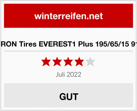 SYRON Tires EVEREST1 Plus 195/65/15 91 H Test