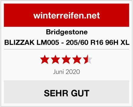 Bridgestone BLIZZAK LM005 - 205/60 R16 96H XL Test