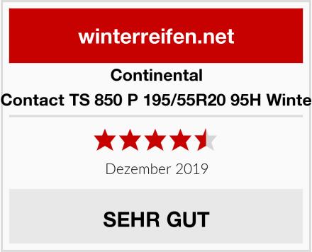 Continental WinterContact TS 850 P 195/55R20 95H Winterreifen Test