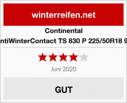 Continental ContiWinterContact TS 830 P 225/50R18 99H Test