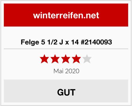Felge 5 1/2 J x 14 #2140093 Test