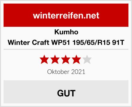 Kumho Winter Craft WP51 195/65/R15 91T Test