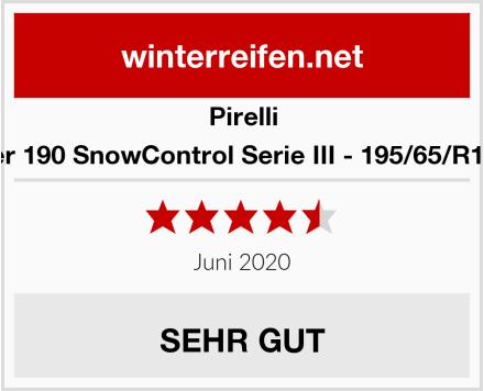 Pirelli Winter 190 SnowControl Serie III - 195/65/R15 91T Test