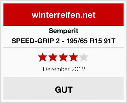 Semperit SPEED-GRIP 2 - 195/65 R15 91T Test