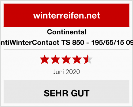 Continental ContiWinterContact TS 850 - 195/65/15 091T Test