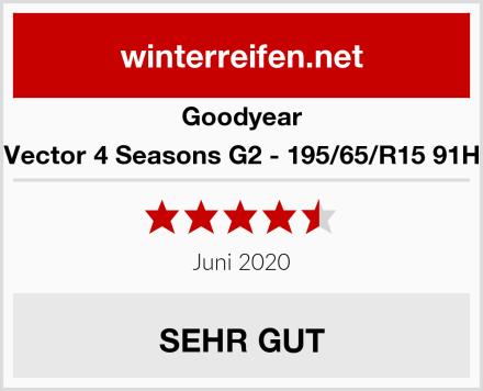 Goodyear Vector 4 Seasons G2 - 195/65/R15 91H Test