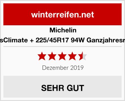 Michelin CrossClimate + 225/45R17 94W Ganzjahresreifen Test