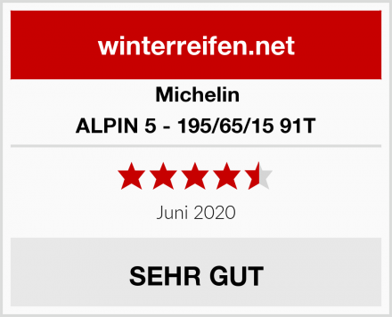 Michelin ALPIN 5 - 195/65/15 91T Test
