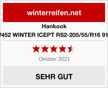 Hankook W452 WINTER ICEPT RS2-205/55/R16 91H Test
