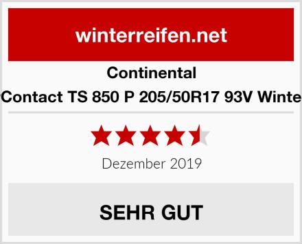 Continental WinterContact TS 850 P 205/50R17 93V Winterreifen Test