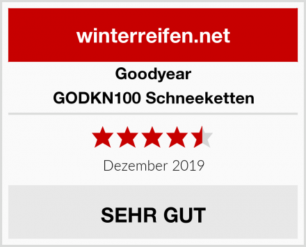 Goodyear GODKN100 Schneeketten Test