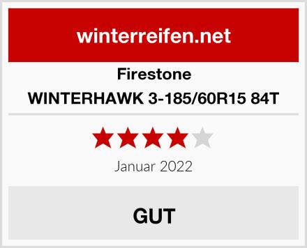 Firestone WINTERHAWK 3-185/60R15 84T Test