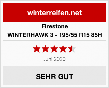 Firestone WINTERHAWK 3 - 195/55 R15 85H Test