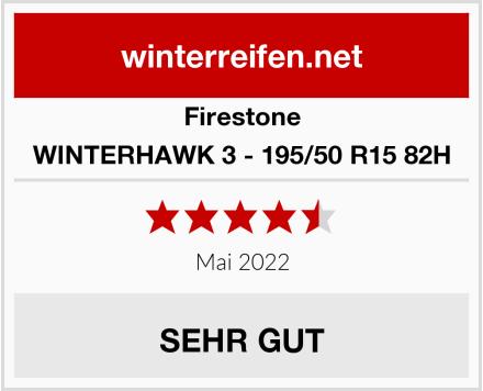 Firestone WINTERHAWK 3 - 195/50 R15 82H Test