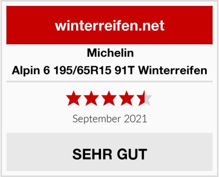 Michelin Alpin 6 195/65R15 91T Winterreifen Test