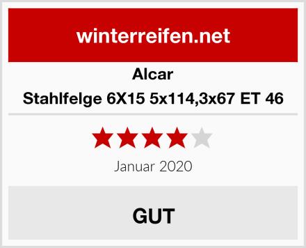 Alcar Stahlfelge 6X15 5x114,3x67 ET 46 Test