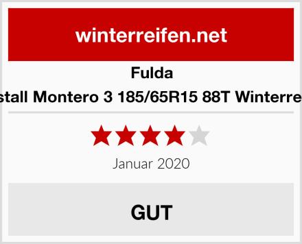 Fulda Kristall Montero 3 185/65R15 88T Winterreifen Test