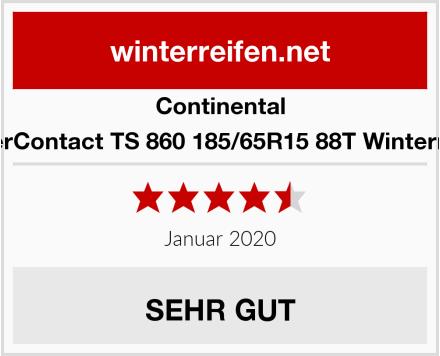 Continental WinterContact TS 860 185/65R15 88T Winterreifen Test
