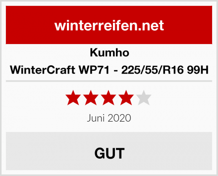Kumho WinterCraft WP71 - 225/55/R16 99H Test