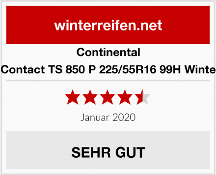 Continental WinterContact TS 850 P 225/55R16 99H Winterreifen Test