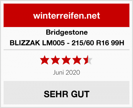 Bridgestone BLIZZAK LM005 - 215/60 R16 99H Test