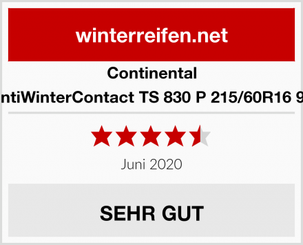Continental ContiWinterContact TS 830 P 215/60R16 99H Test