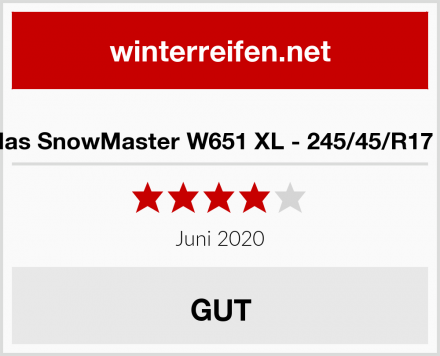 Petlas SnowMaster W651 XL - 245/45/R17 99V Test