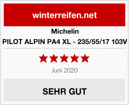 Michelin PILOT ALPIN PA4 XL - 235/55/17 103V Test