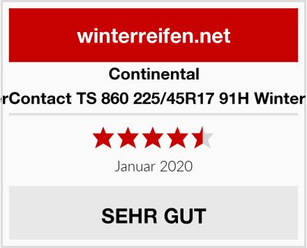 Continental WinterContact TS 860 225/45R17 91H Winterreifen Test