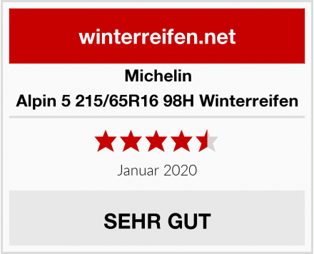 Michelin Alpin 5 215/65R16 98H Winterreifen Test