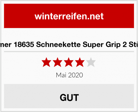 Filmer 18635 Schneekette Super Grip 2 Stück Test