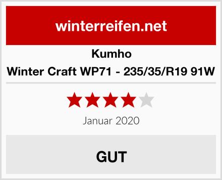Kumho Winter Craft WP71 - 235/35/R19 91W Test