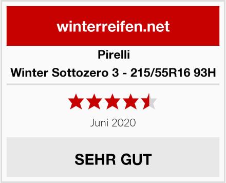 Pirelli Winter Sottozero 3 - 215/55R16 93H Test