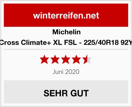Michelin Cross Climate+ XL FSL - 225/40R18 92Y Test