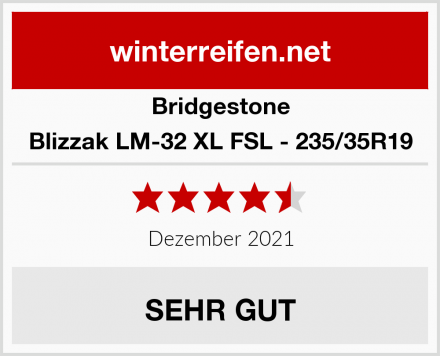 Bridgestone Blizzak LM-32 XL FSL - 235/35R19 Test