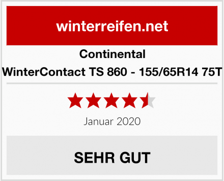 Continental WinterContact TS 860 - 155/65R14 75T Test