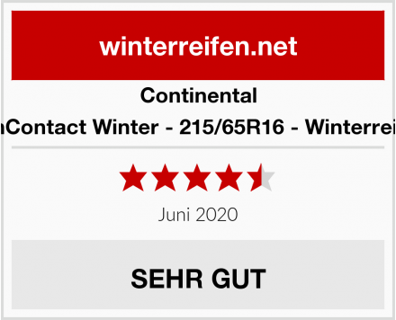 Continental VanContact Winter - 215/65R16 - Winterreifen Test