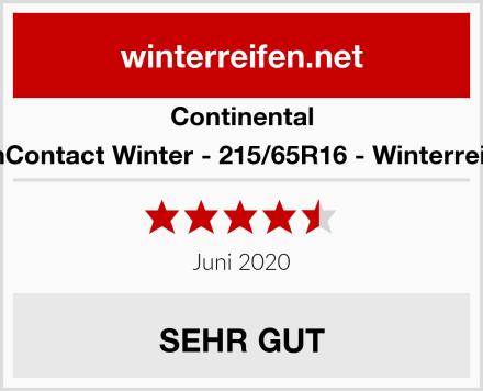 Continental VanContact Winter - 215/65R16 - Winterreifen Test